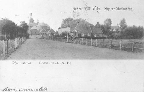 De Nieuwstraat in 1900